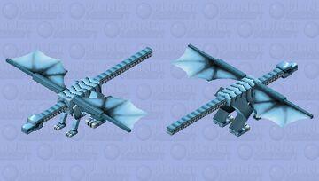 White Dragon Blue Eyes [Yu-Gi-Oh] Minecraft Mob Skin