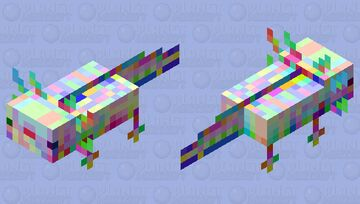 Glitch axolotl 2 Minecraft Mob Skin