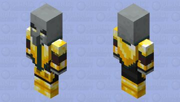 Knight Illager(Remade)(Gold) Minecraft Mob Skin