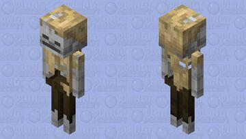 husk skeleton with hat Minecraft Mob Skin