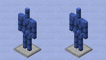 blue armor stand. Minecraft Mob Skin