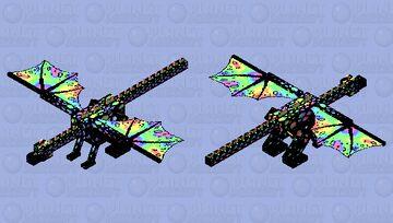 Rainbow Enderdragon Minecraft Mob Skin