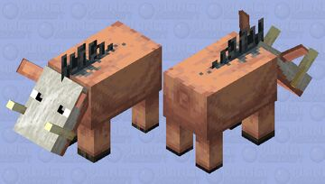 Skull Hoglin Minecraft Mob Skin
