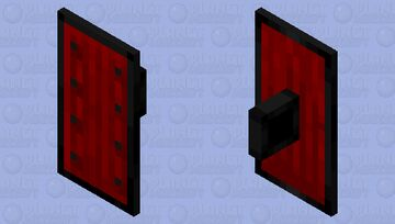Shield But With Netherite For Iron And Crimson Wood Instead Of Dark Oak Minecraft Mob Skin