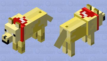 DOGGY Dankev (the red is not blood it is a scarf) Minecraft Mob Skin