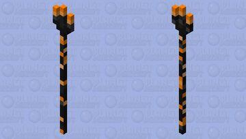 Fire Trident Minecraft Mob Skin