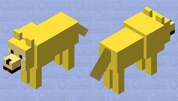 Golden Retriever Dog Minecraft Mob Skin