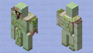 1.19 Zombie Golem (king to new biome to nether) Minecraft Mob Skin