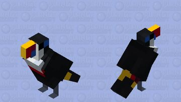 white-throated toucan Minecraft Mob Skin