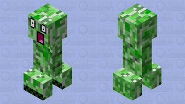 Epic Creeper wtf Minecraft Mob Skin
