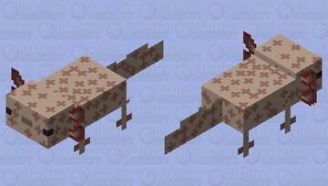Copper axolotl Minecraft Mob Skin