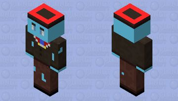 Ghost Christmas NPC(BE only) Minecraft Mob Skin