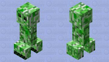 Shut up!  cursed creeper edition Minecraft Mob Skin