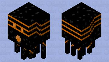 Lava Charged Ghast {Attacking} Minecraft Mob Skin
