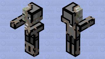 cartoon zombie pigman Minecraft Mob Skin
