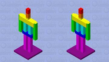 Rainbow armor stand Minecraft Mob Skin