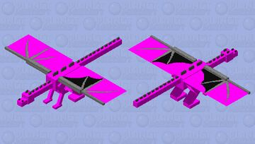 Pink Dragon (cuz I like Pink) Minecraft Mob Skin