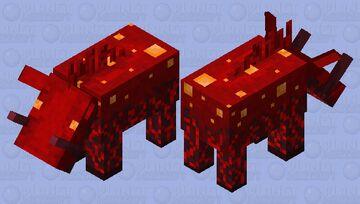 Crimson Fungus Hoglin Minecraft Mob Skin