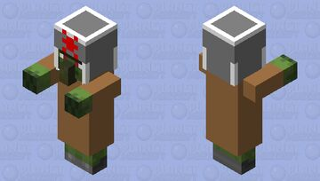 Russian Zombie Villager Minecraft Mob Skin