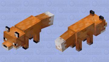 Spectral Fox Minecraft Mob Skin