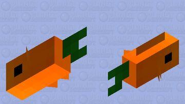 Carrot fish Minecraft Mob Skin