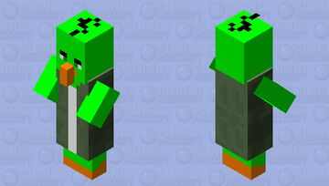 Angry birds villager 3 Minecraft Mob Skin
