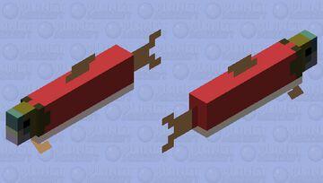Bare Bones salmon Minecraft Mob Skin