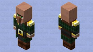 Pillager Villager(Without Hat)(Re Texturing) Minecraft Mob Skin