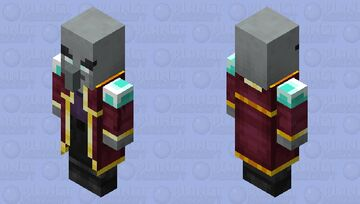 Enchanter / for Minecraft Dungeons / Remade Re-texturing / no hat Minecraft Mob Skin