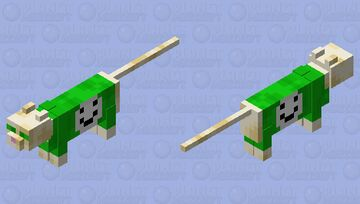 Dream but He is a cat. Yes, I really did do this. Minecraft Mob Skin