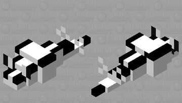 Nudibranch (black and white) Minecraft Mob Skin