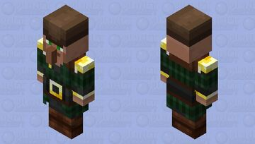 Pillager Villager(With Hat)(Re Texturing) Minecraft Mob Skin