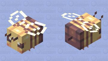 bees, the fuzzy guardians of spring - Creatures of Spring Series Minecraft Mob Skin