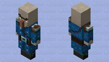 Witch(Illusioner Outfit)(Captain) Minecraft Mob Skin
