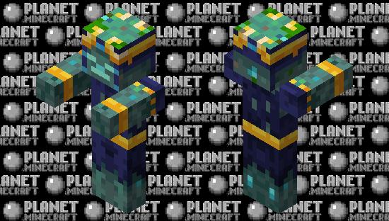 Armored Drowned Minecraft Dungeons Hidden Depths DLC Minecraft Skin
