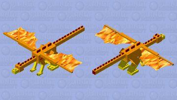 Fire Dragon Minecraft Mob Skin