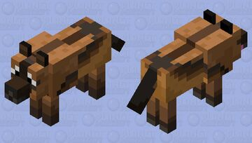 Tamed Dire Wolf Minecraft Mob Skin