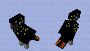 female red tailed black cockatoo Minecraft Mob Skin