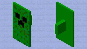 Creeper Shield Minecraft Mob Skin