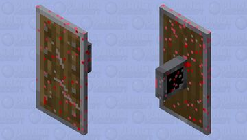 The bloody shield Minecraft Mob Skin