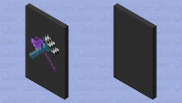 Netherite Axe and Trident Cape Minecraft Mob Skin