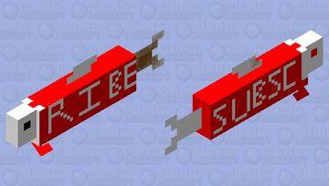 The Youtuber Salmon Minecraft Mob Skin
