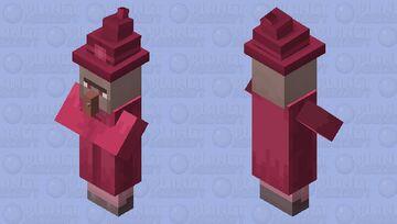 Pink Witch Minecraft Mob Skin