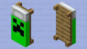 Creeper face bed Minecraft Mob Skin