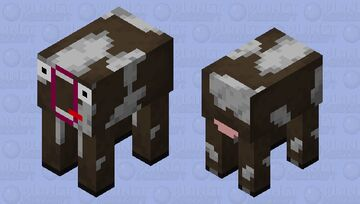 Funny cow Minecraft Mob Skin