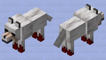 Cursed, starving, wolf Minecraft Mob Skin