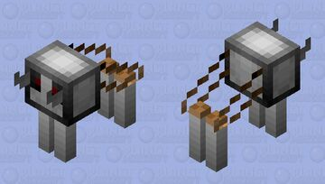 robot wolf (Angry) Minecraft Mob Skin