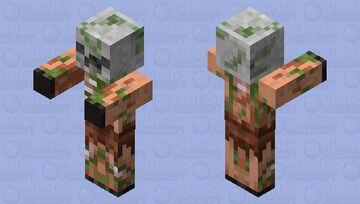 Old Zombie Pigman [Piglin Texture] Minecraft Mob Skin
