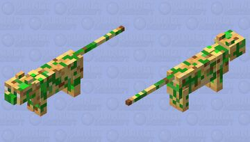 Cat covered in vines Minecraft Mob Skin