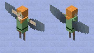 Small Flying Alex Minecraft Mob Skin